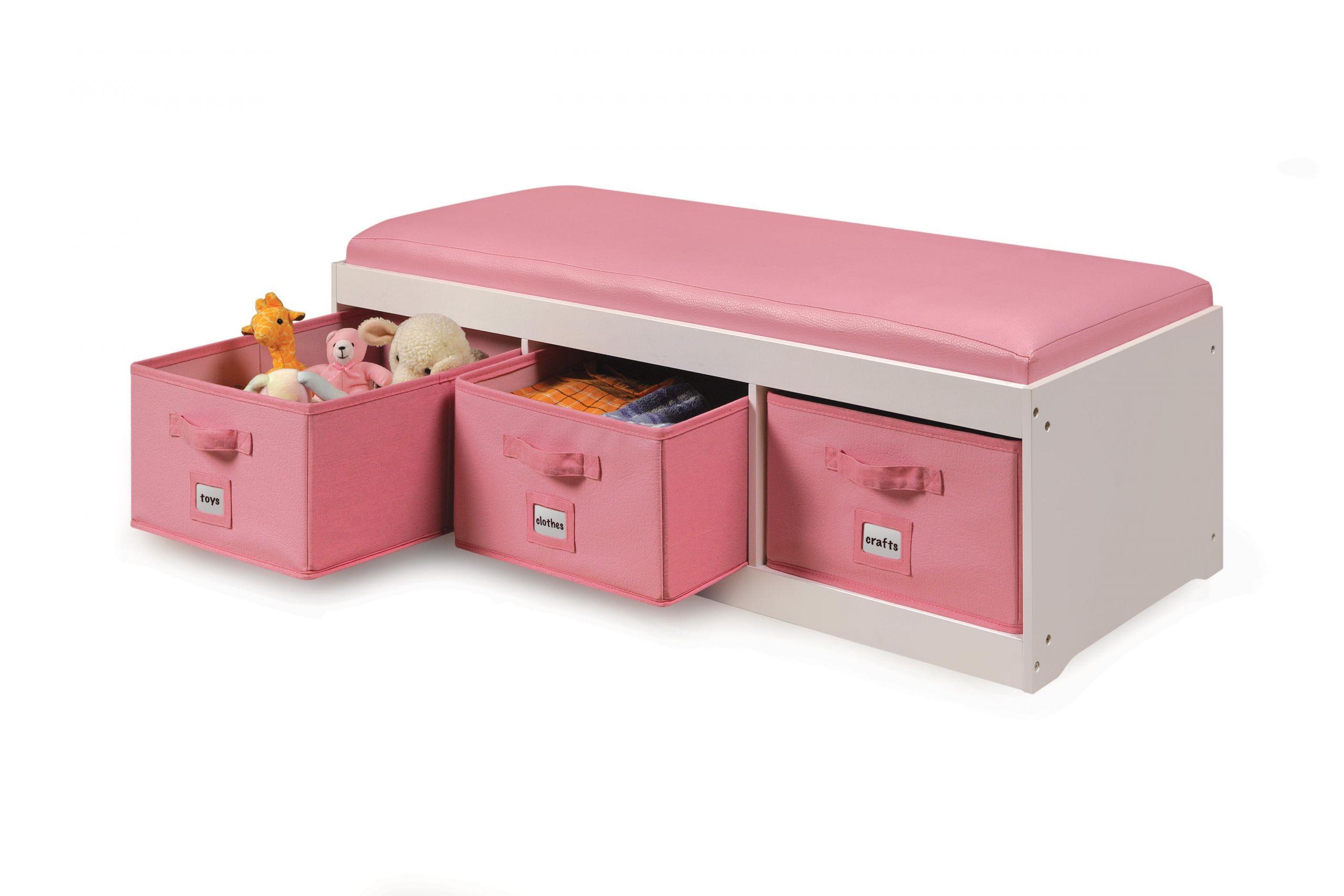 Storage Bench Kids Best Of Amazon Kid S Cushioned Storage Bench with 3 Basket