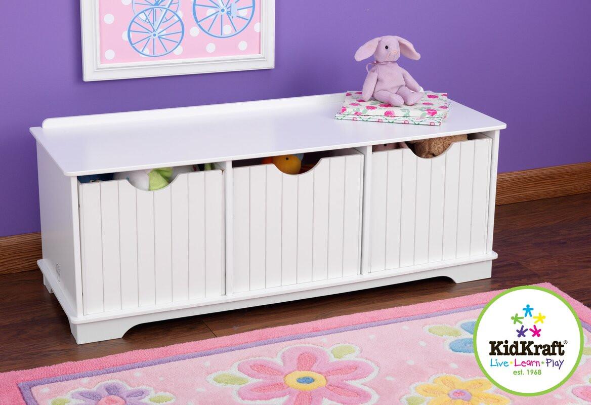 Storage Bench Kids  KidKraft Nantucket Storage Bench & Reviews