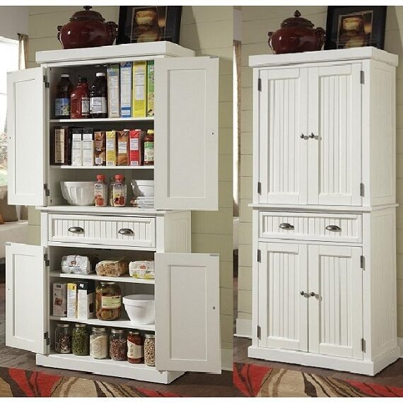 Storage Cabinet Kitchen  Tall Kitchen Pantry Storage Cabinet Utility Closet