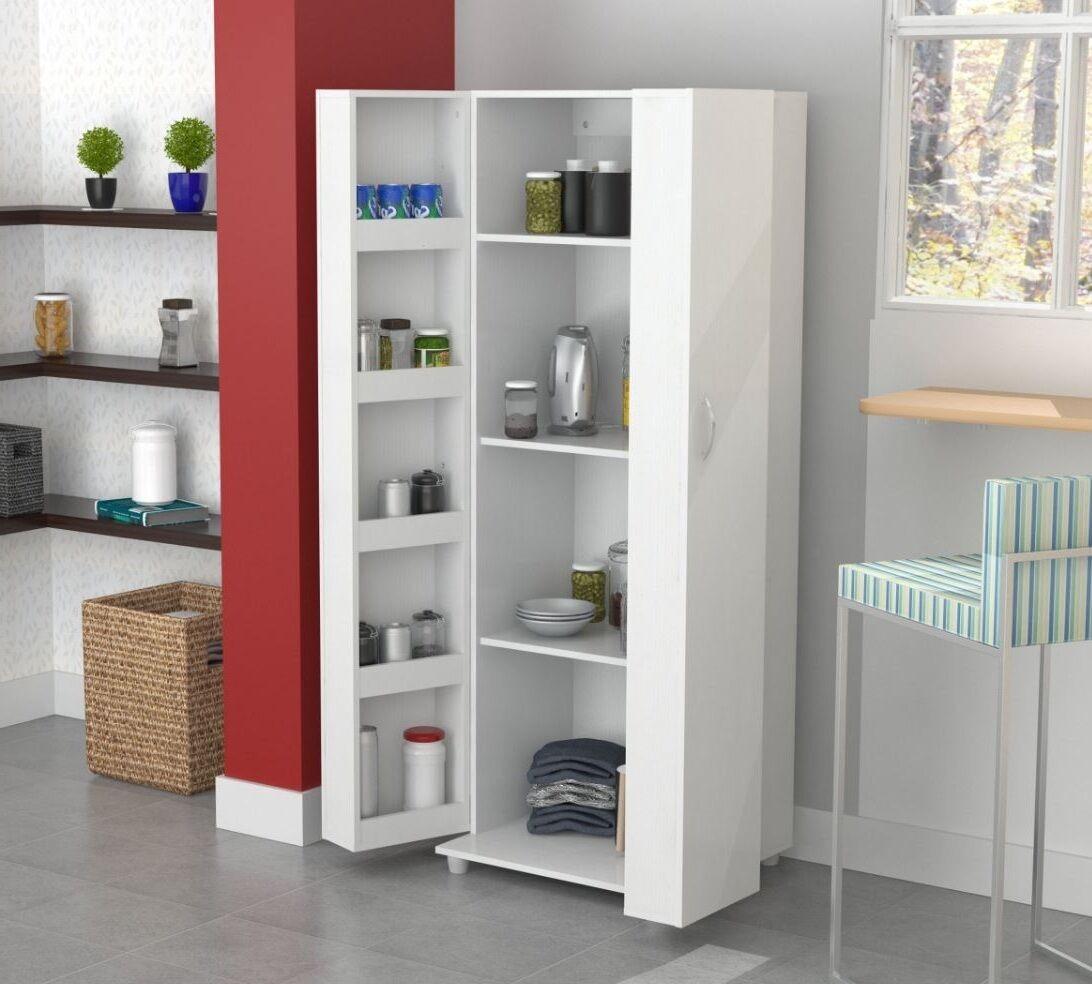 Storage Cabinet Kitchen  Tall Kitchen Cabinet Storage White Food Pantry Shelf