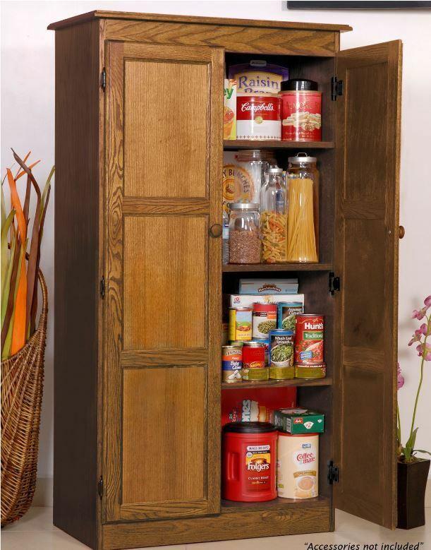 Storage Cabinet Kitchen  Storage Cabinet for Kitchen Country Cupboard Pantry Oak