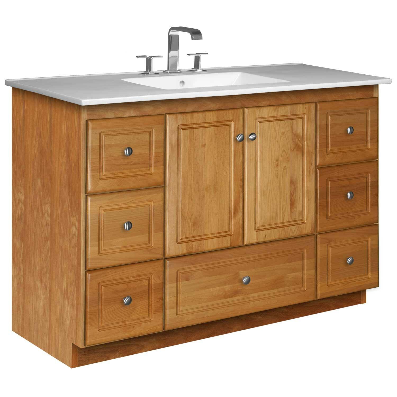 """Strasser Bathroom Vanities Awesome Strasser Woodenworks Simplicity 49"""" Single Bathroom Vanity"""