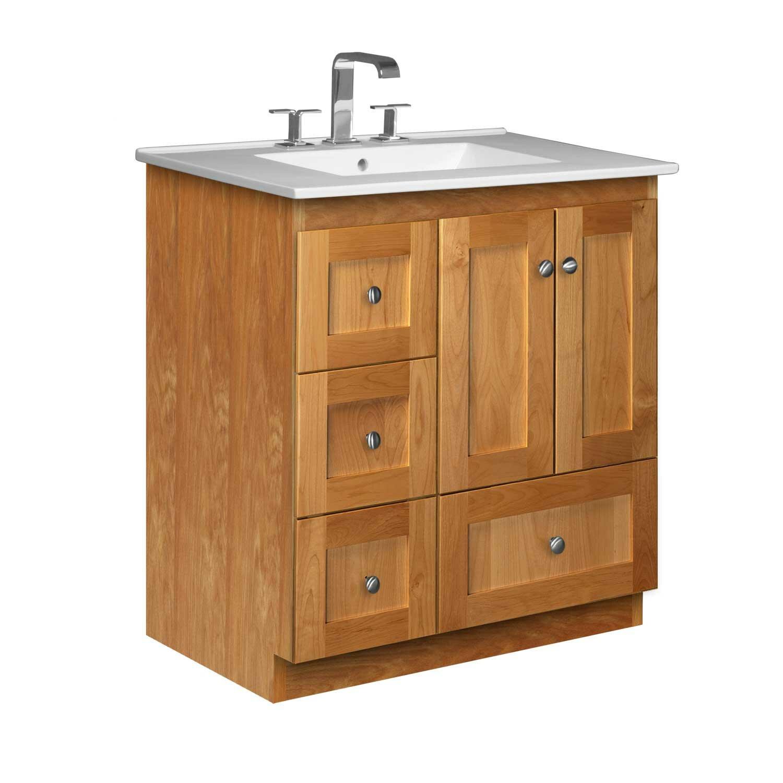 """Strasser Bathroom Vanities  Strasser Woodenworks Simplicity 31"""" Single Bathroom Vanity"""
