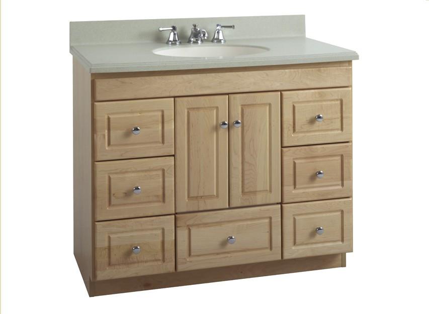 "Strasser Bathroom Vanities  Strasser Woodenworks 42"" Montlake Vanity 7 Door Styles"