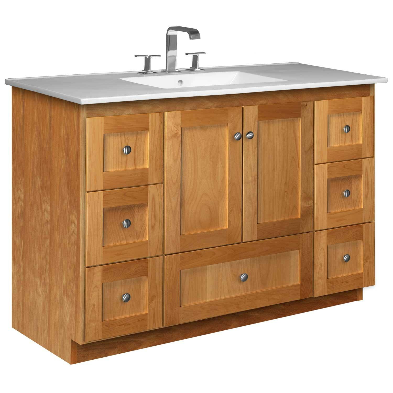 """Strasser Bathroom Vanities  Strasser Woodenworks Simplicity 49"""" Single Bathroom Vanity"""