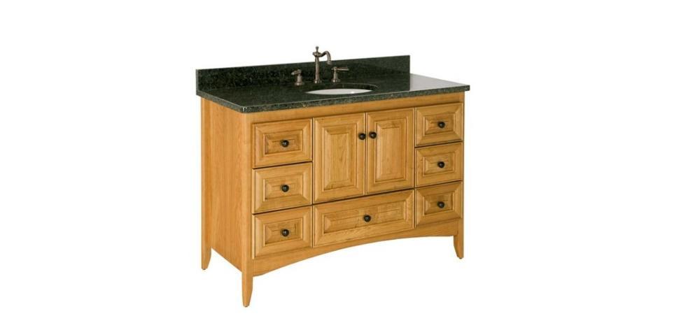 "Strasser Bathroom Vanities  Strasser Woodenworks 48"" Wallingford Vanity 7 Door Styles"