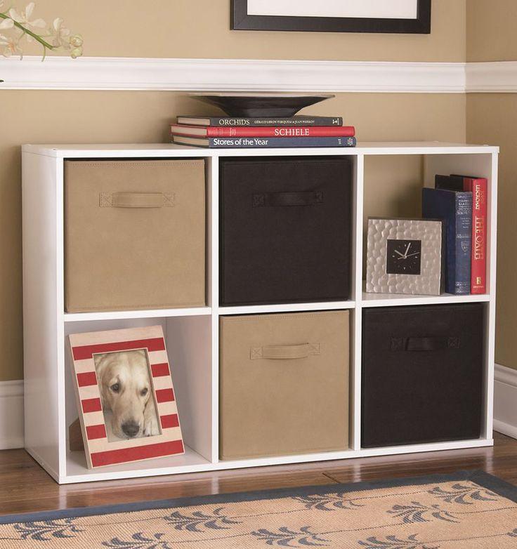 Target Kids Storage  6 cube storage white bookcase basket toy book box