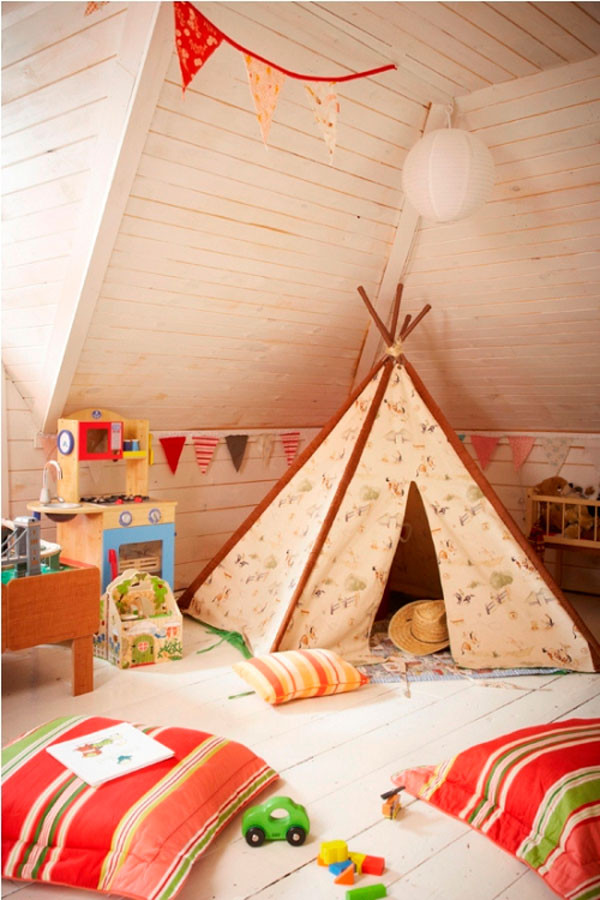 Tent For Kids Room  33 Cool Kids Play Rooms With Play Tents