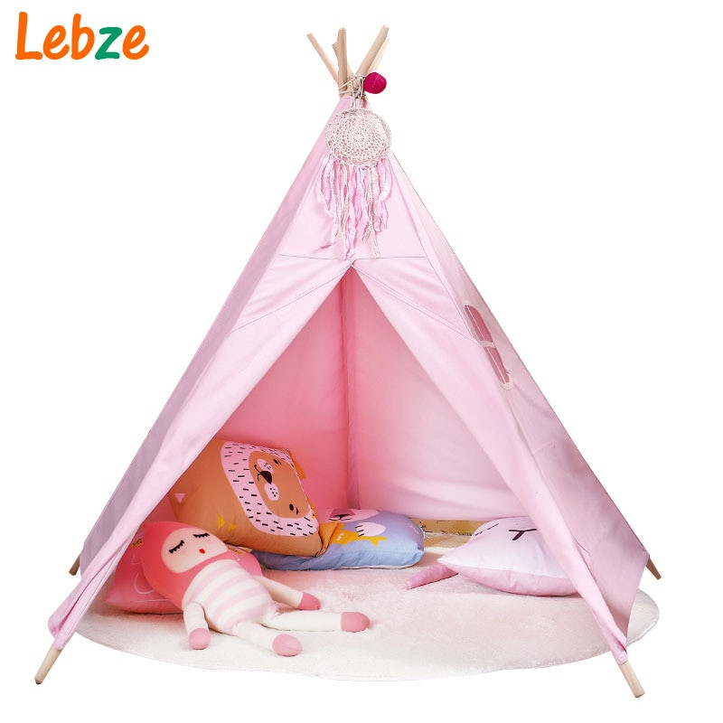 Tent For Kids Room  Children Tent Toy Five Poles Canvas Wigwam Indian Teepee