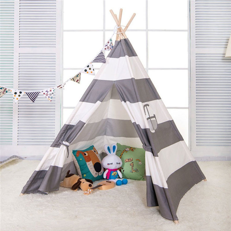 Tent For Kids Room  Cute Kids Teepee Tent Tipi Tent for kids Striped Children