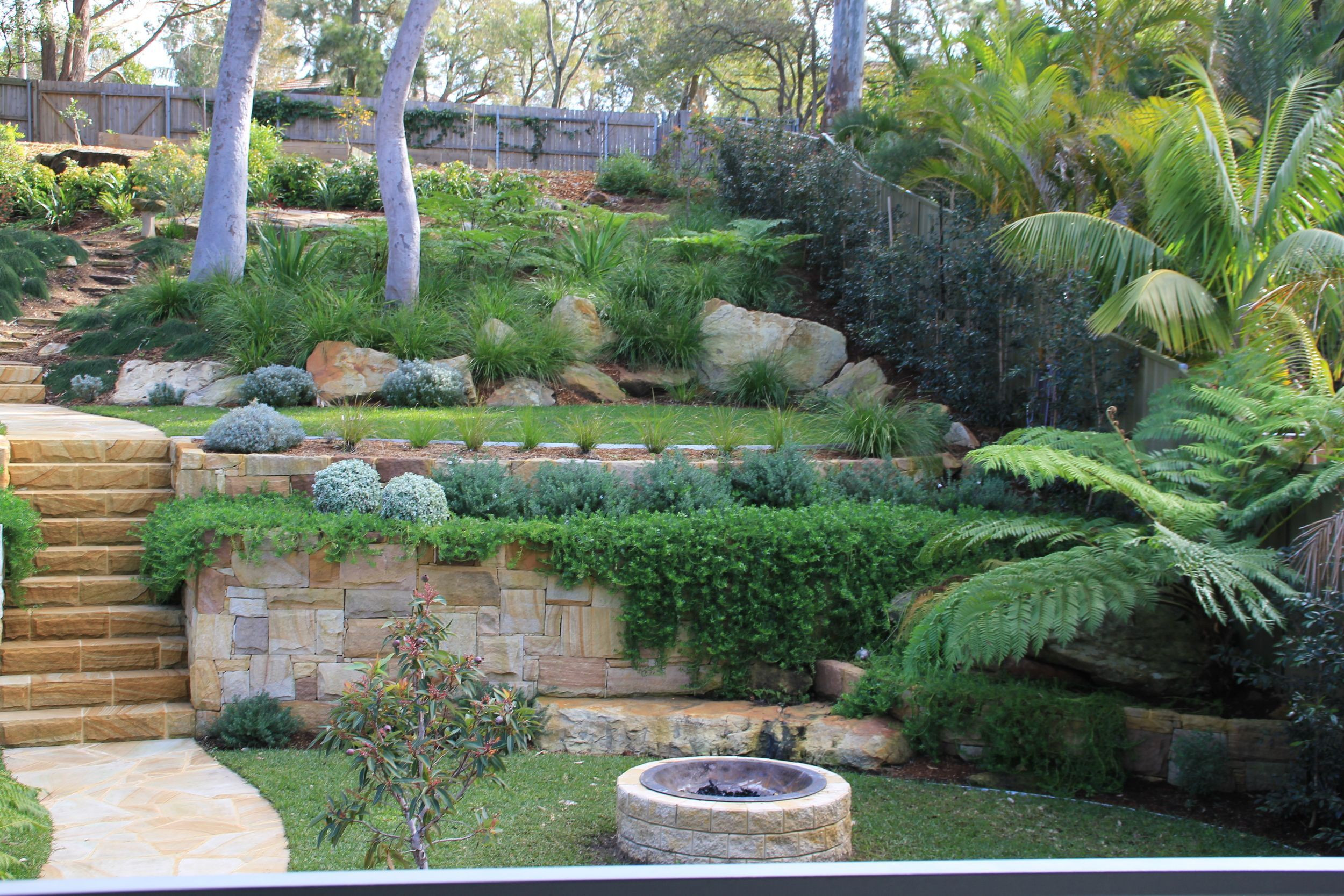 Terrace Landscape Australia Unique Australian Native Landscape Design Sloped Block the View