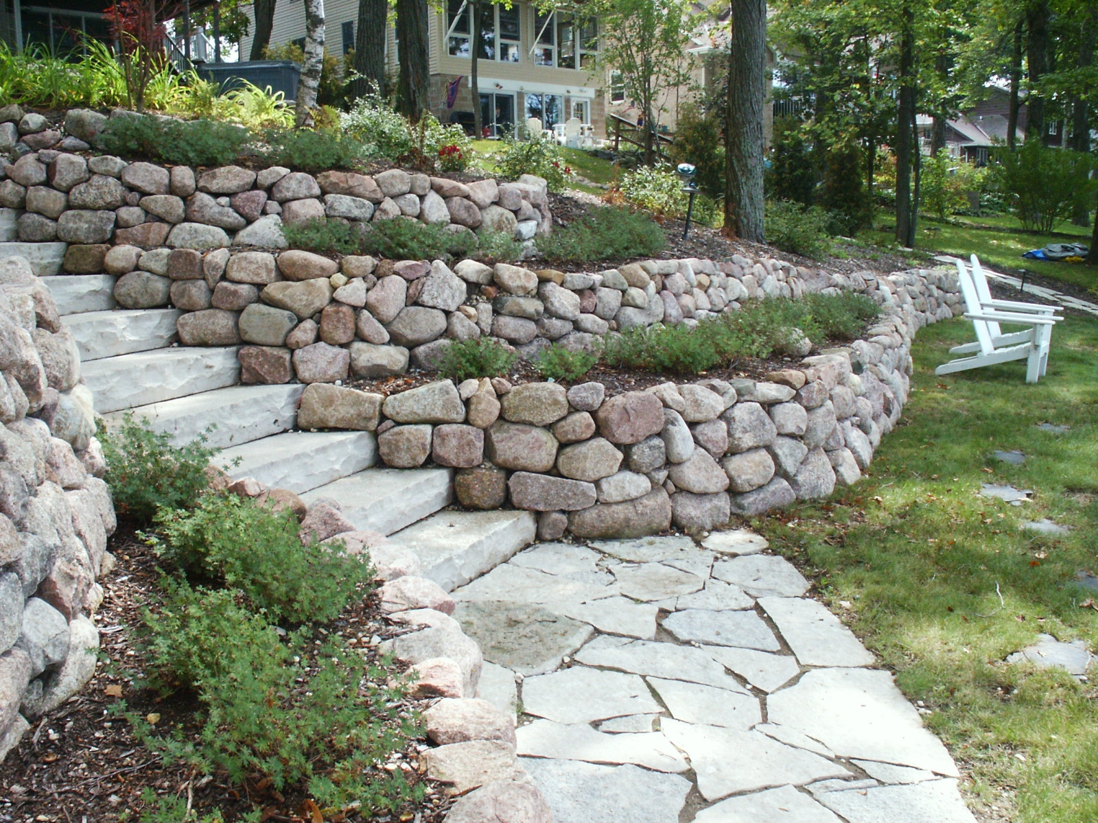 Terrace Landscape Retaining Wall Awesome Retaining Walls and Outcroppings Treetops Landscape
