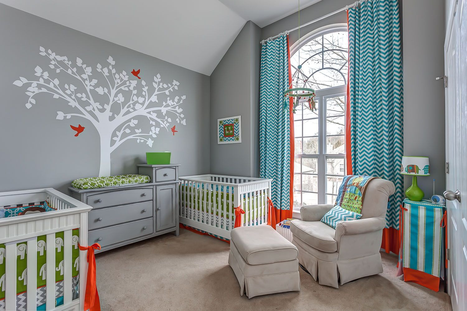 Twins Baby Room Decorating Ideas  Twin Boy Nursery amazing colour scheme With images