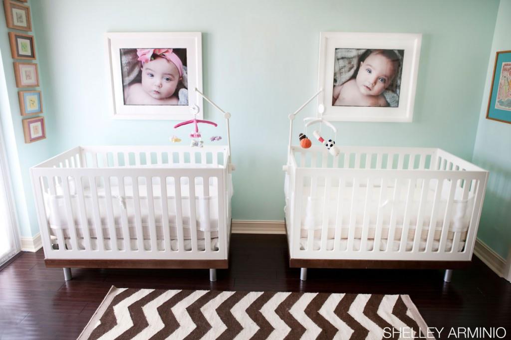 Twins Baby Room Decorating Ideas  Gallery Roundup Boy Girl Twin Nurseries