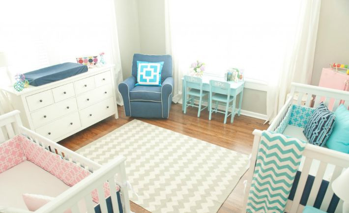 Twins Baby Room Decorating Ideas  Tips for Decorating for Twins Project Nursery