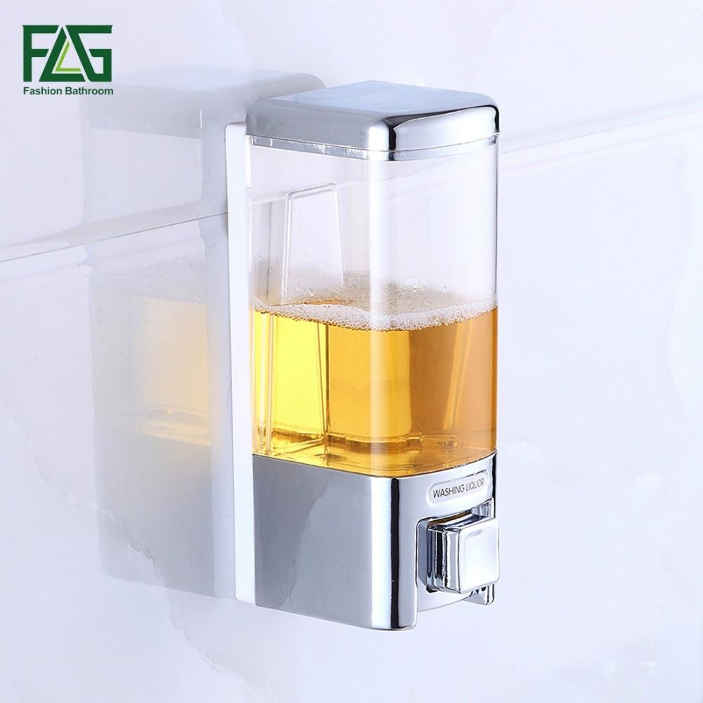 Wall Mounted Bathroom Soap Dispenser  480ml Bathroom Wall Mounted Liquid Plastic Soap Dispenser