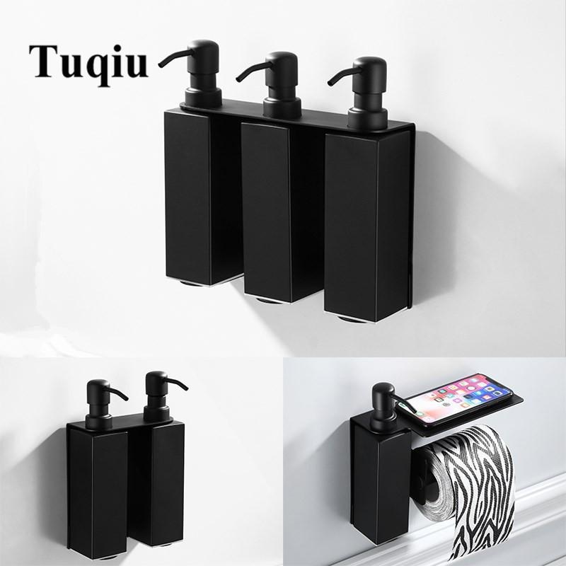 Wall Mounted Bathroom Soap Dispenser  Soap Dispenser Wall mounted Black bathroom Hand Liquid