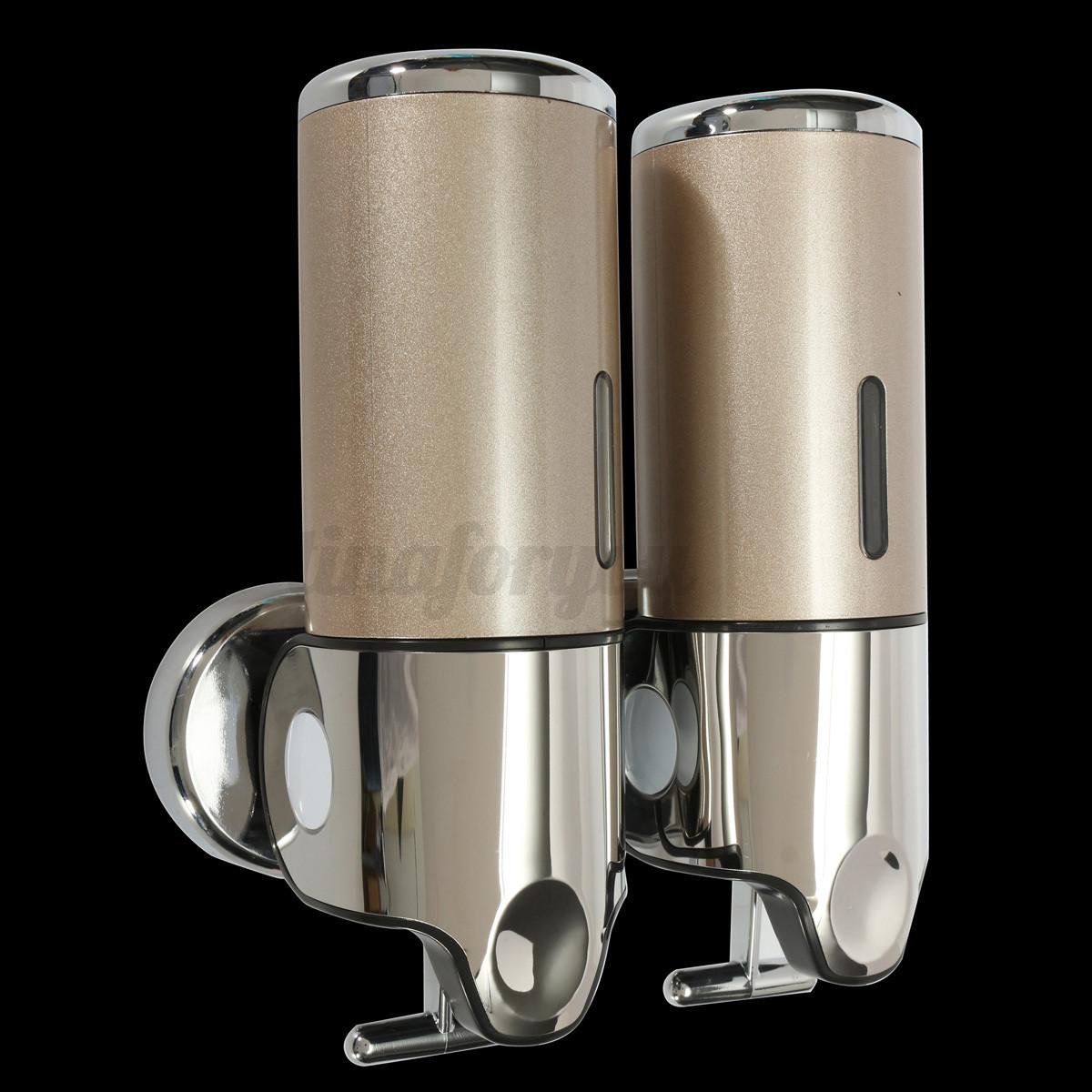 Wall Mounted Bathroom Soap Dispenser  3 Bottles Wall Mounted Hotel Bathroom Soap Dispenser 500ML