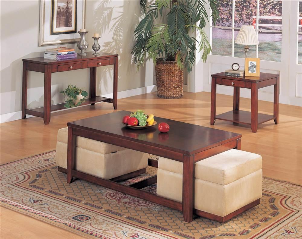 Walmart Living Room Table Sets  Adelia 3 Pc Living Room Table Set Walmart Walmart
