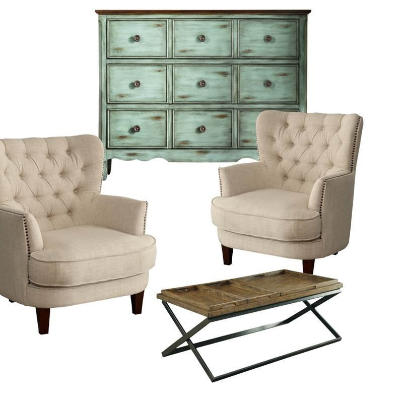 Walmart Living Room Table Sets  4 Piece Living Room Set with 2 Accent Chairs and Console