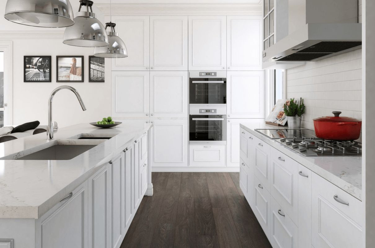 White Floor Kitchens Awesome 20 Gorgeous Examples Wood Laminate Flooring for Your