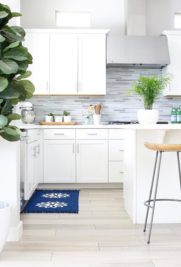 White Kitchen Rugs  DIY Painted Kitchen Rug yourmarketingbff