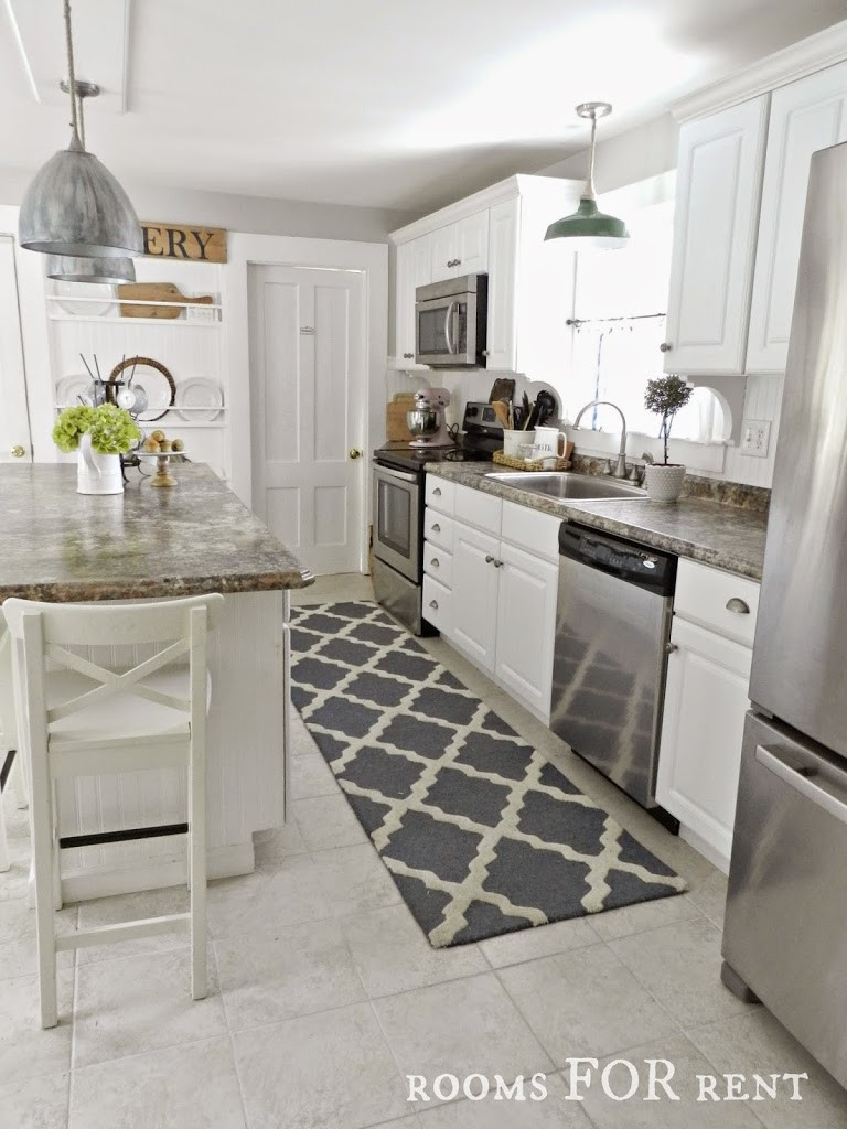 White Kitchen Rugs  New Runner in the Kitchen Rooms For Rent blog