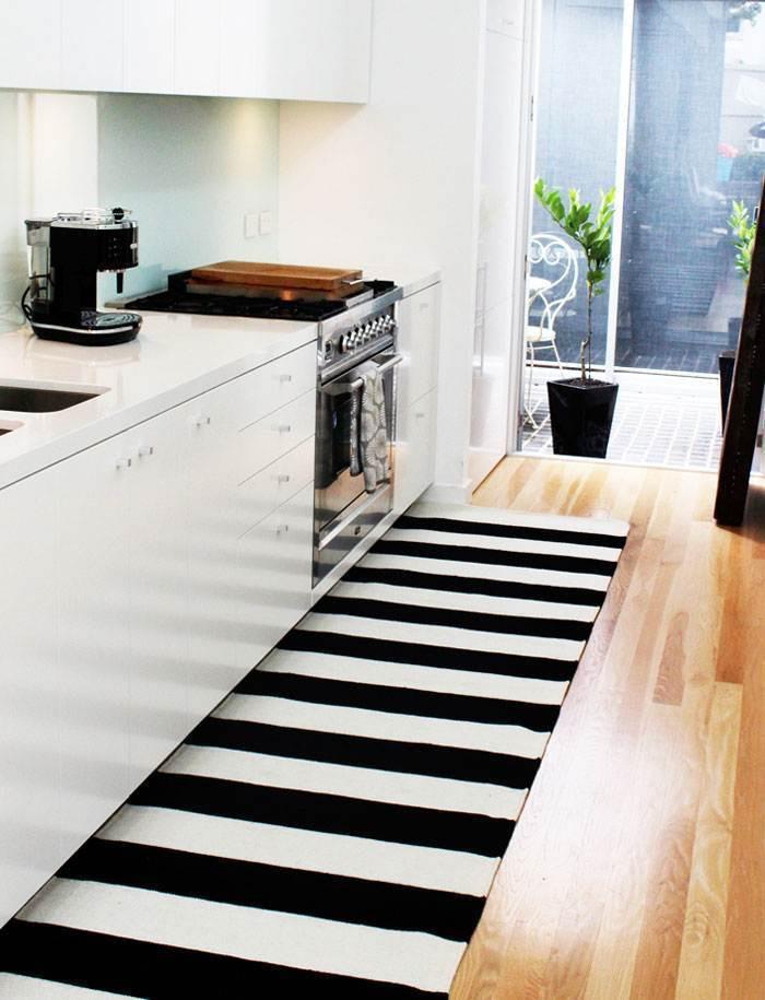 White Kitchen Rugs  Black And White Kitchen Runner Rug