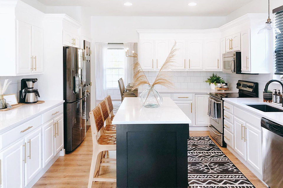 White Kitchen Rugs  The Right Rug Size for Your Kitchen