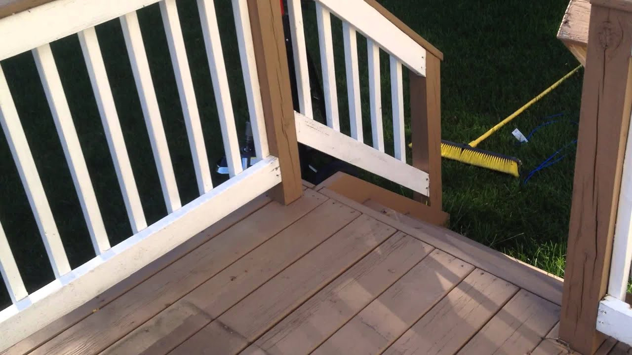 Wood Deck Paint Reviews  Behr Premium Deck Stain solid color 3 year and 5 year