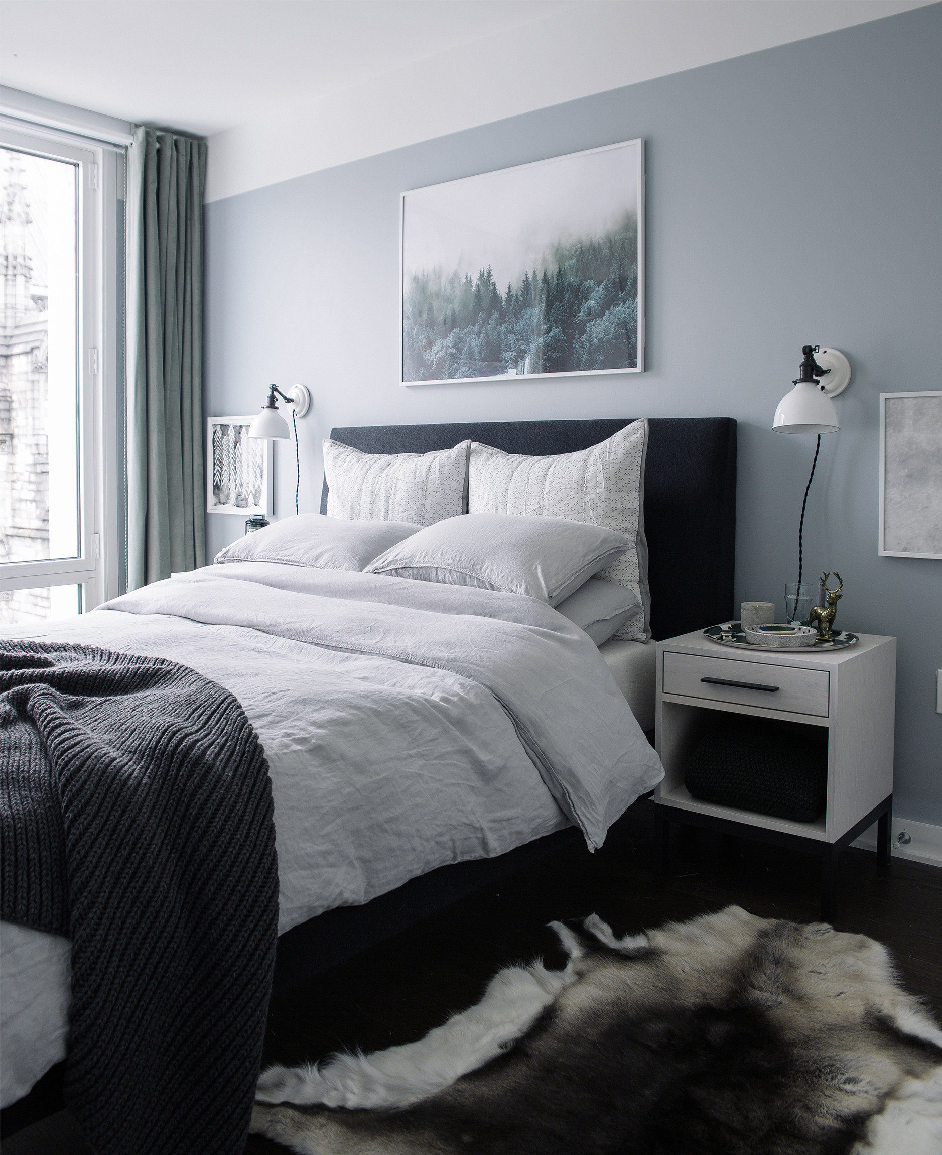 Gray Paint For Bedroom  Bedroom Makeover The Reveal Bright Bazaar by Will Taylor