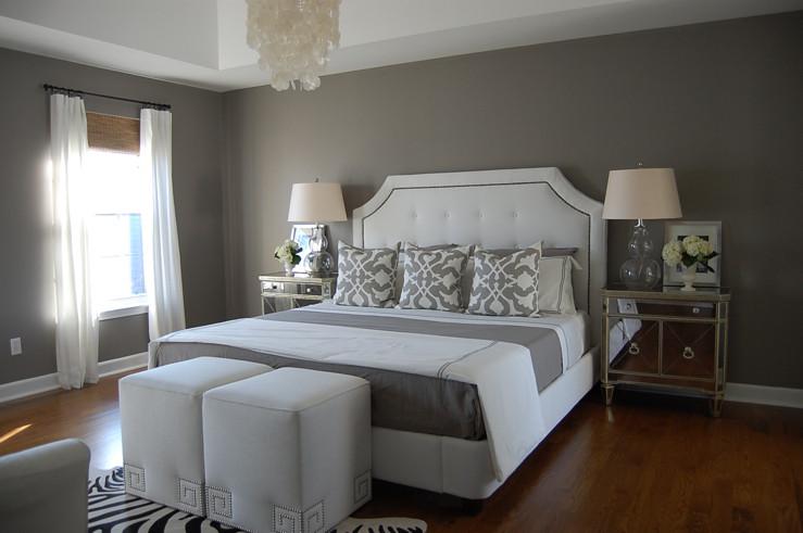 Gray Paint For Bedroom  Gray Bedroom Contemporary bedroom Benjamin Moore