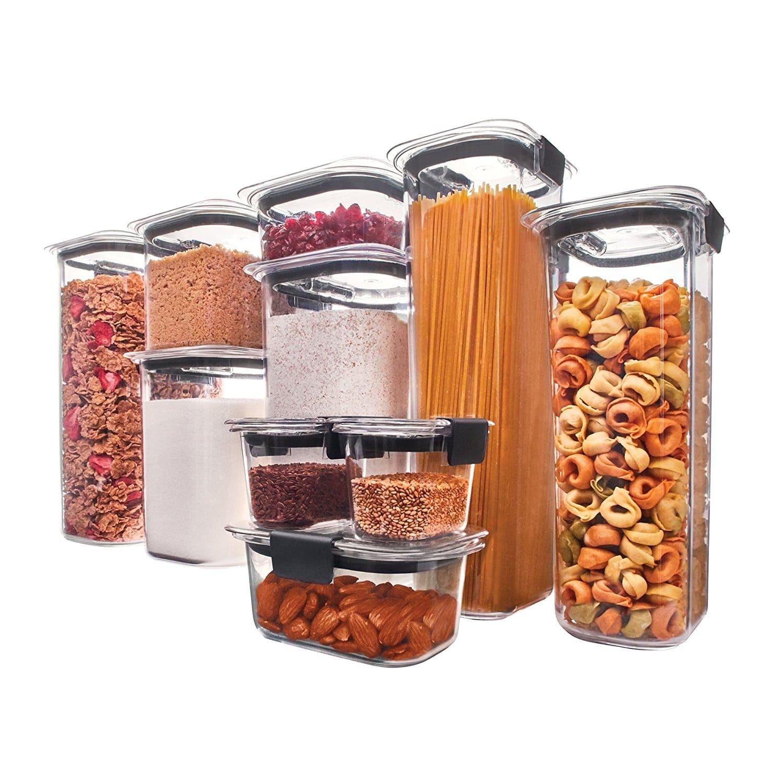 Rubbermaid Kitchen Storage Fresh 10 Piece Rubbermaid Brilliance Pantry Airtight Food
