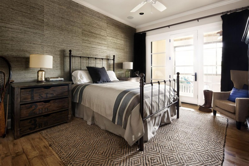 Rustic Contemporary Bedroom  Rustic Texas Home With Modern Design and Luxury Accents