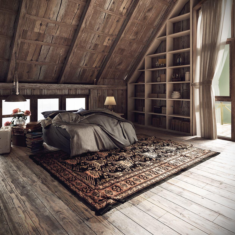 Rustic Contemporary Bedroom  23 Rustic Bedroom Interior Design